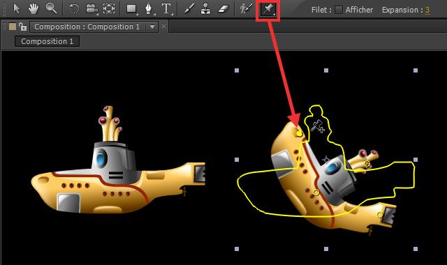 Utilisez l'outil marionnette d'After Effects pour créer des déformations
